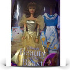 Beauty And The Beast Gold Belle Doll